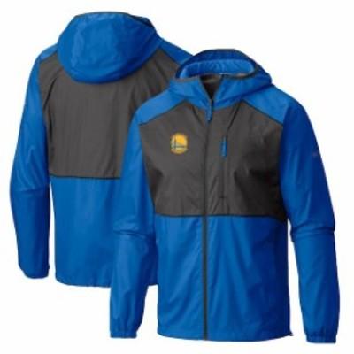 Columbia コロンビア スポーツ用品  Columbia Golden State Warriors Royal Flash Forward Full-Zip Windbreaker Jacket