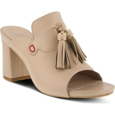 アズーラ サンダル シューズ レディース Brunilda Tassel Slide Sandal (Women's) Beige Leather