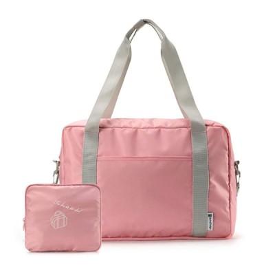 折りたたみボストンバッグ 折りたたみキャリーオンバッグ 収納ポーチ付 大容量 機内持込可 スーツケース固定可 旅行バッグ トラベルバッグ 軽