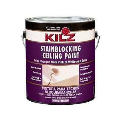 特別価格Kilz color-change Stainblocking内部天井ペイント、ホワイト、1-gallon好評販売中