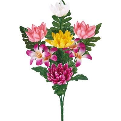 造花 YDM 大和仏花ブッシュS ミックス FP-0897MIX 造花ギフト 仏花