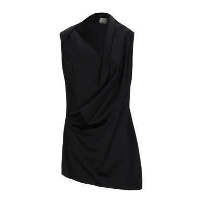 MALLONI ミニワンピース&ドレス ブラック 48 レーヨン 95% / ポリウレタン 5% ミニワンピース&ドレス
