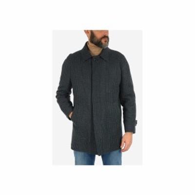 CORNELIANI/コルネリアーニ Green メンズ prince of Wales virgin wool balmacaan coat dk