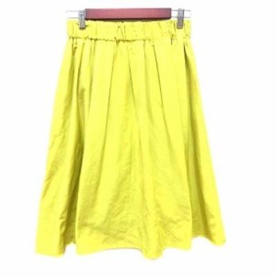 【中古】ロペピクニック ROPE Picnic フレアスカート ひざ丈 38 黄 イエロー /YK レディース