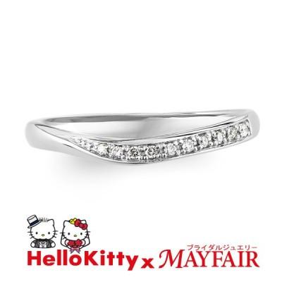 ハローキティの結婚指輪 マリッジリング レディース キューガーデン Pt900