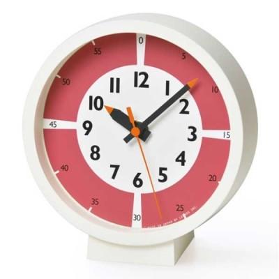 レムノス Lemnos クロック Clock fun pun clock with color! for table レッド YD18-05-RE *受注後に納期をお知らせ致します。