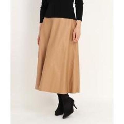 ICHIE(イチエ)ダブルフェイスレザースカート