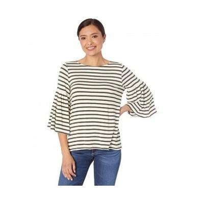 Karen Kane カレンケーン レディース 女性用 ファッション Tシャツ Flare Sleeve Side-Slit Top - Olive