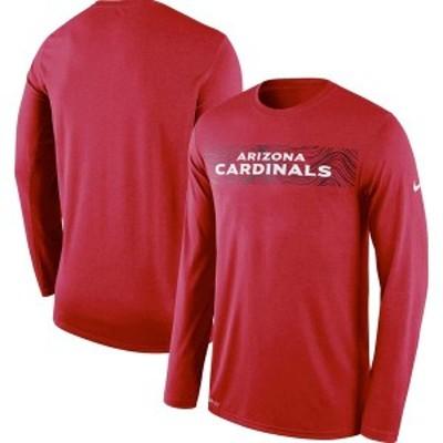 ナイキ メンズ Tシャツ トップス Arizona Cardinals Nike Sideline Seismic Legend Long Sleeve T-Shirt Cardinal