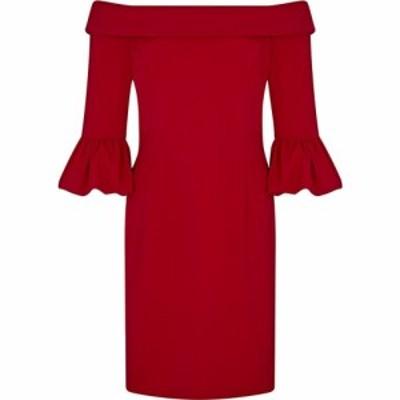 アリエラ ロンドン Ariella London レディース ワンピース ワンピース・ドレス Ariella Bettina Off Shoulder Short Dress RED