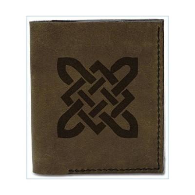 Men's Celtic Circle Tattoo -4 Genuine Leather Flipout Slim ID Wallet MHLT_04並行輸入品