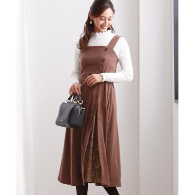 プリーツレース切替がかわいい♪ベルト付ジャンパースカート (ジャンスカ)Skirts