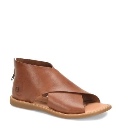 ボーン レディース サンダル シューズ Iwa Criss Cross Banded Leather Sandals Brown