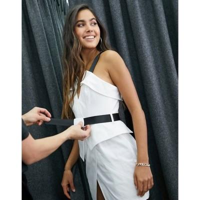 エイソス レディース ワンピース トップス ASOS DESIGN utility fold mini dress with belt