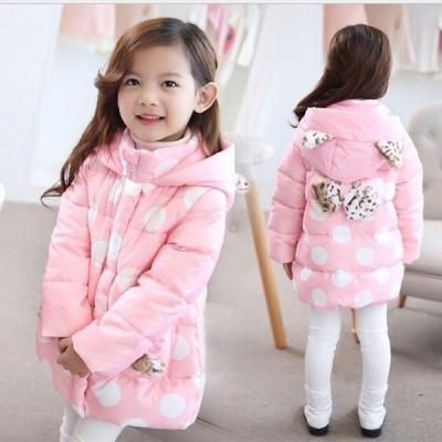 子供服女の子無地中綿コートジャケットキッズコート冬着子供コートキッズ服女の子服風アウター中綿ロングコート