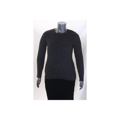 チャータークラブ セーター ニット Charter Club グレー Plus サイズ メタリック 長袖 セーター 0X MSRP 69 LAFO
