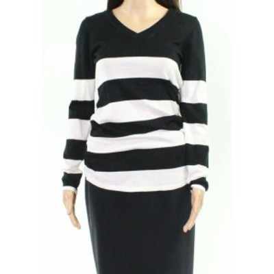 time タイム ファッション トップス Its Our Time NEW Black Womens Size Medium M Striped neck Sweater