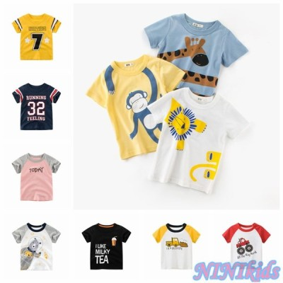 3枚セット キリン ライオン  新品 キッズ Tシャツ 半袖 夏 カジュアル 子ども 半袖 tシャツ 可愛い 100%綿