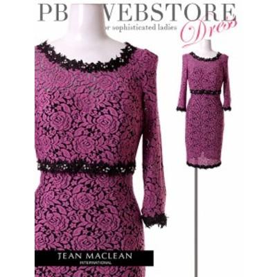 JEANMACLEAN ドレス ジャンマクレーン キャバドレス ナイトドレス ワンピース jean maclean ピンクフラワー 7号 S 9号 M 155449 クラブ