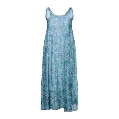 BINI Como 7分丈ワンピース・ドレス スカイブルー 44 コットン 80% / シルク 20% 7分丈ワンピース・ドレス