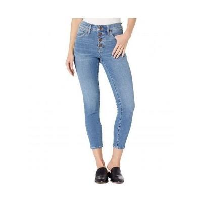 """Madewell レディース 女性用 ファッション ショートパンツ 短パン 9"""" High-Rise Skinny Crop Button Front in Dewey Wash - Dewey Wash"""