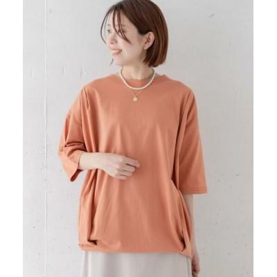 Sonny Label/サニーレーベル オーバーチュニックTシャツ オレンジ FREE
