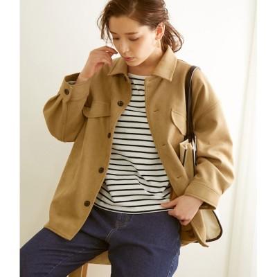 【ロペピクニック/ROPE' PICNIC】 【春も着られる】マシュマロタッチシャツジャケット