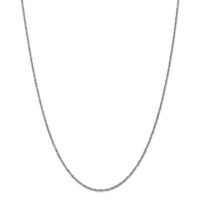 ストーンのついていない貴金属 海外セレクション 10 Karat White Gold 1.7mm Ropa Chain