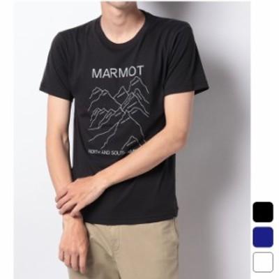 マーモット Marmot アウトドア トップス Tシャツ 半袖 マウンテンズプリントハーフスリーブティー TOMRJA50 【2021SS】