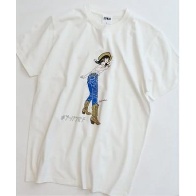【EDWIN / エドウィン】ジーパン女子×江口寿史Tシャツ「Western Girl」