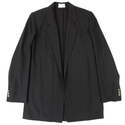 エルメス マルジェラ期 テーラードジャケット レディース 黒 34 新品同様 ウール Hロゴボタン 羽織り HERMES