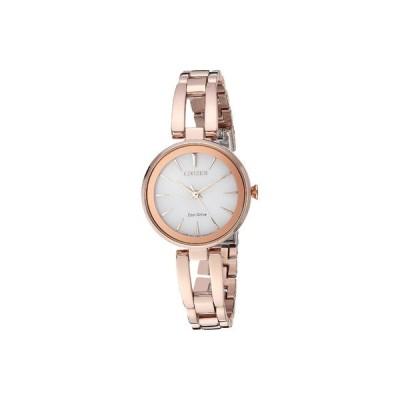 シチズンウォッチ 腕時計 アクセサリー レディース EM0633-53A Eco-Drive Rose Gold Tone