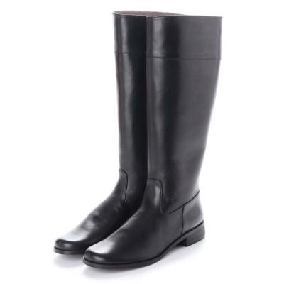 【20.5cm】特別価格!20.5~21.5cm(小さいサイズ)婦人牛革ロングブーツ税込8,000円均一!ブラック