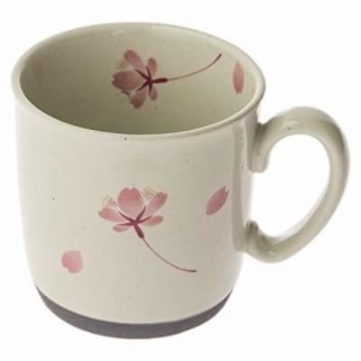 西海陶器有田焼 マグ カップ 300 ml 桜の舞 桃色 66419