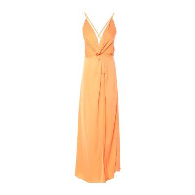 WEILI ZHENG ロングワンピース&ドレス オレンジ XS ポリエステル 100% ロングワンピース&ドレス