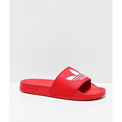 アディダス ADIDAS レディース サンダル・ミュール シューズ・靴 adilette lite red slide sandals Red
