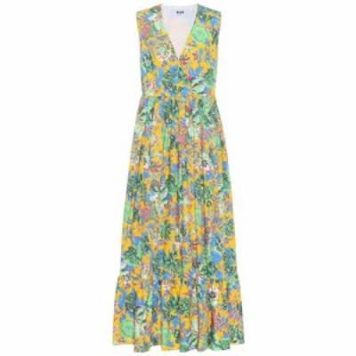 エムエスジーエム MSGM レディース ワンピース ワンピース・ドレス Floral-printed cotton dress Multicolor