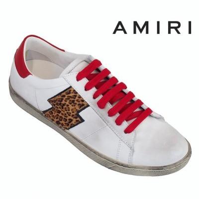 アミリ AMIRI スニーカー レディース WSVIL-LTH-WHITE/LEOPARD/RED