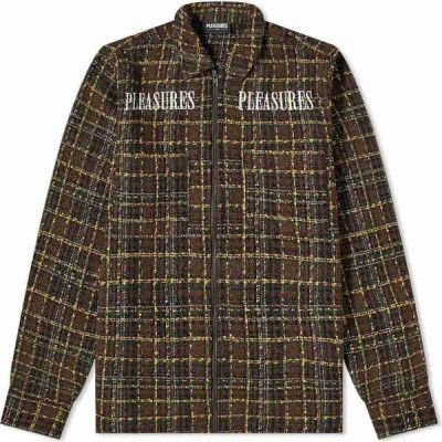 プレジャーズ PLEASURES メンズ シャツ シャツジャケット トップス voices overshirt Brown