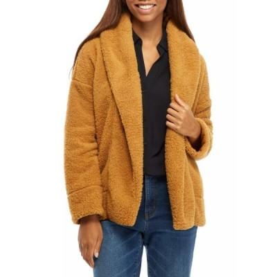 クラウン&アイビー ニット&セーター アウター レディース Women's Shawl Collar Fuzzy Cardigan  Tan