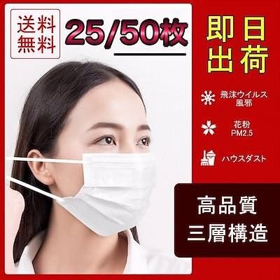 16時までのご注文即日出荷在庫あり毎日出荷マスク 25枚 50枚 在庫あり  BFE99%