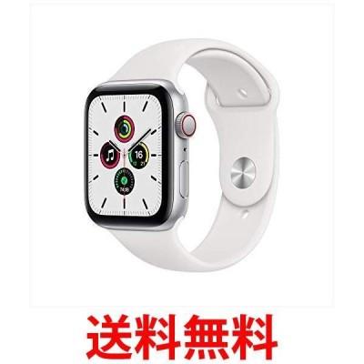 Apple Watch SE(GPS + Cellularモデル) 44mmシルバーアルミニウムケースとホワイトスポーツバンド MYEV2J-A