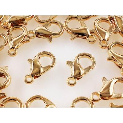 カニカン ゴールド KC金 200個 12X8 金具 留め具 アクセサリー ストラップ パーツ 金具AP1264