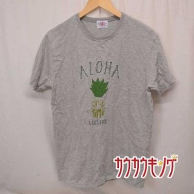 【中古】(良品) LUMBER /ランバー Tシャツ 半袖シャツ グレー サイズXL メンズ トップス