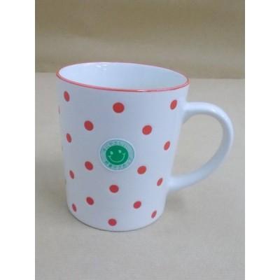 【美濃焼】軽量マグカップ 水玉 赤 330ml 3個セット