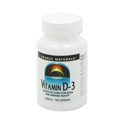 ビタミンD 2000IU 100粒 Source naturals(ソースナチュラルズ)