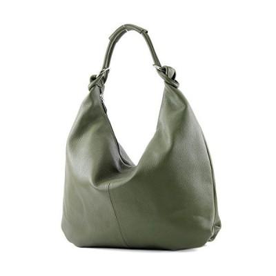 Italian bag women's bag handbag hobo bag leather bag 337, Colour:army Green 並行輸入品