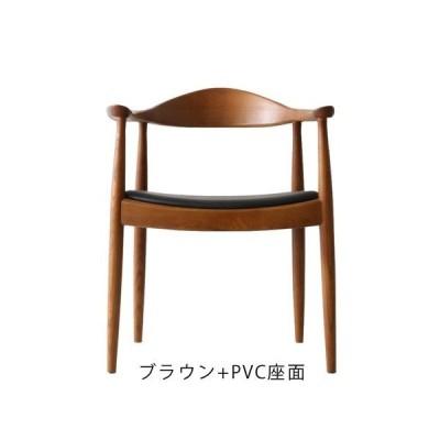 ハンス・J・ウェグナー The Chair(ザ・チェア) ブラウン+PVC座面 (完成品配送 / 配送エリアにより別途追加送料あり)