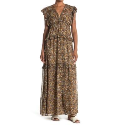 バッシュ レディース ワンピース トップス Sama Leaf Printed Maxi Dress GREY