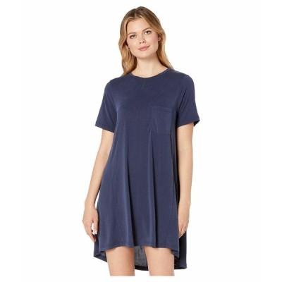 アメリカンローズ ワンピース トップス レディース Autumn Pocketed T-Shirt Dress Denim
